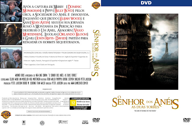 Capa DVD O Senhor Dos Anéis As Duas Torres [Coleção]