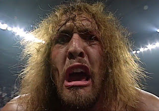 WCW - The Great American Bash 1996 - The Giant yelled at the camera after beating Lex Luger