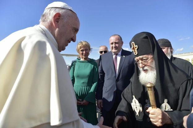 Misa Paus Fransiskus di Georgia Diboikot Gereja Ortodoks