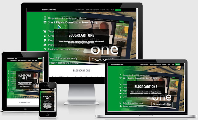 Blogrcart One Ecommerce Responsive Blogger Templates