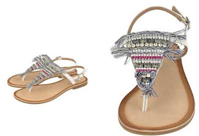 sandalias de piel planas color blanco