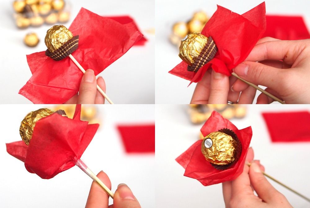 Ferrero Chocolate Bouquet For Valentine's {Tutorial