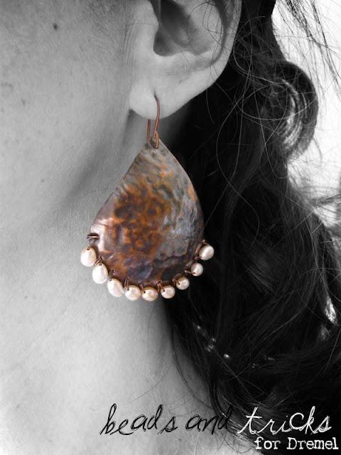 orecchini Gocce di rame for Dremel
