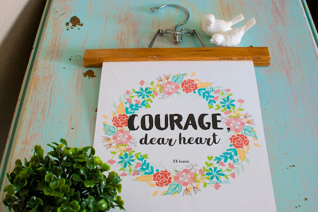 Courage Dear Heart Wall Art Free Printable