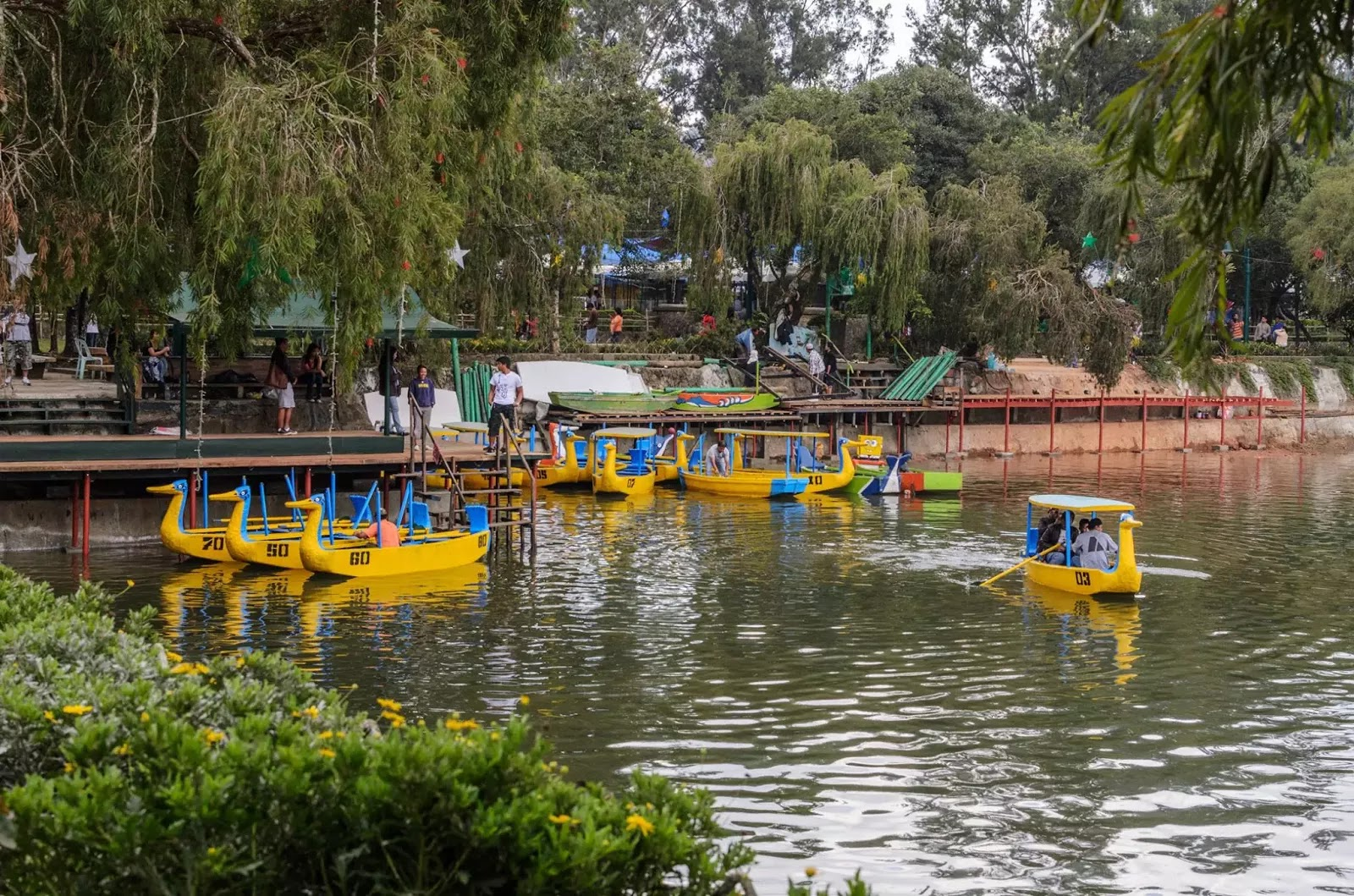 Yellow Boats First to Service Boat Rides Burnham Lake Fresh Water Refill Baguio City Philippines