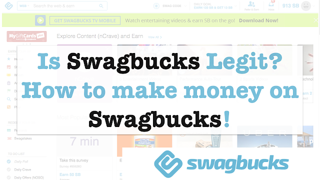 Is Swagbucks Legit? How to make money on Swagbucks!
