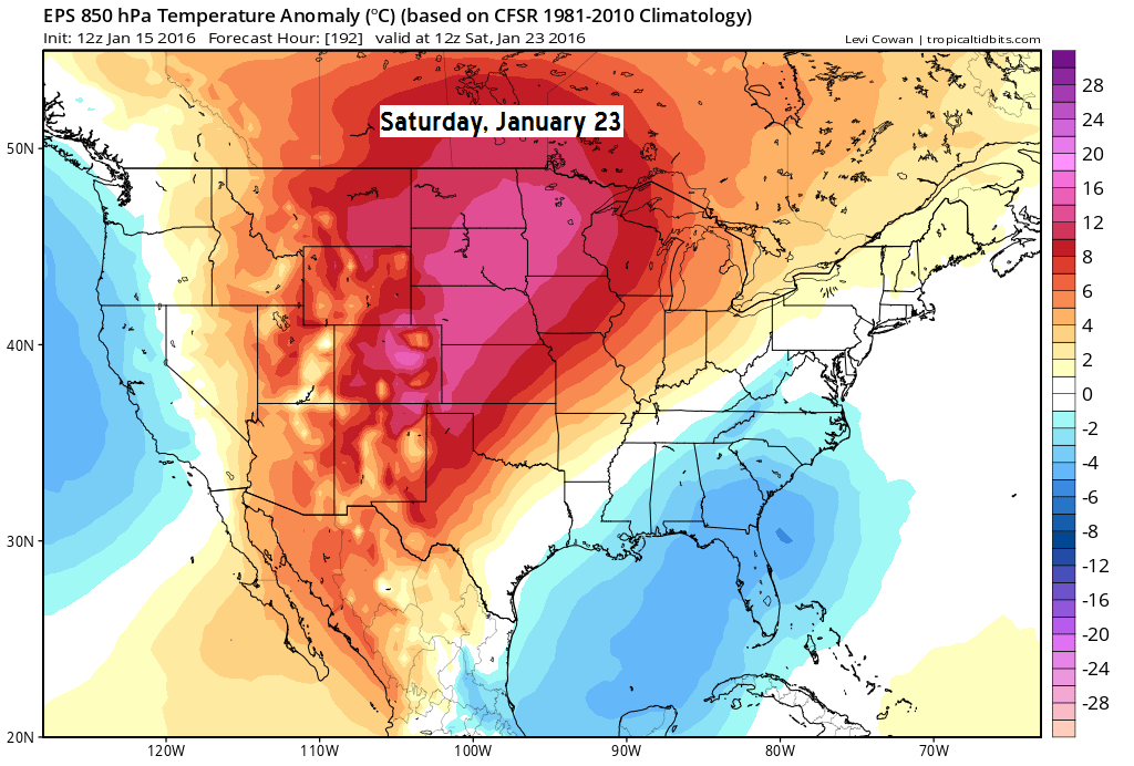 Tim Burrs Weather Blog January 15 2016 Weather Report
