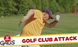 Funny Video – Pro Golfer Attacked By Clubs