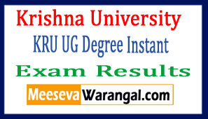 Krishna University KRU UG Degree Instant Exam Results