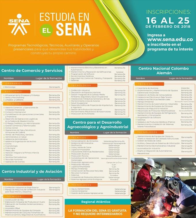 El SENA abre convocatoria del 16 al 25 de febrero