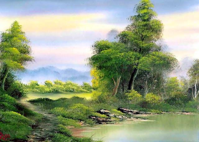 Cuadros modernos pinturas y dibujos naturaleza verde - Cuadros espectaculares modernos ...