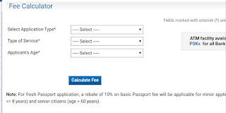 Indian Passport fees calculator