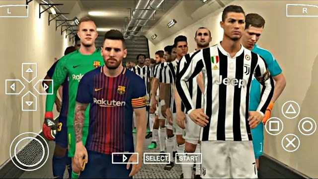 PES 2019 Lite 400 MB New Camera PS4 Update Android/PPSSPP