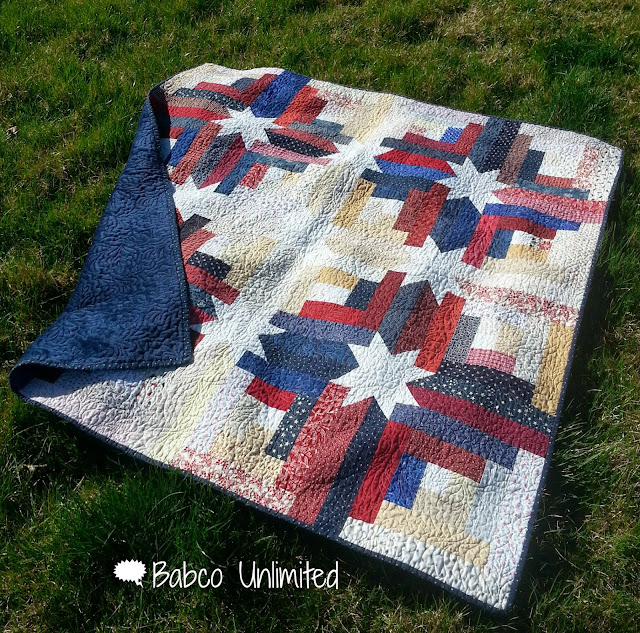 BabcoUnlimited.blogspot.com - Hidden Stars Quilt, Red White & Blue Quilt, Patriotic Quilt