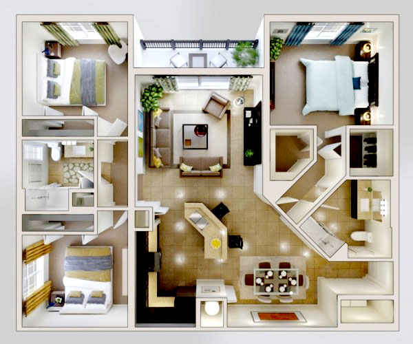 04 Desain Rumah Minimalis 3 Kamar