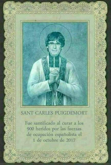 Sant Carles Puigdemont, Fue santificado al curar a los 900 heridos por las fuerzas de ocupación españolista el 1 de octubre de 2017