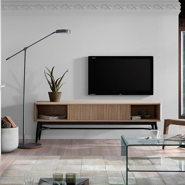 Muebles de sal n muebles de television de estilo nordico for Mueble de pared industrial