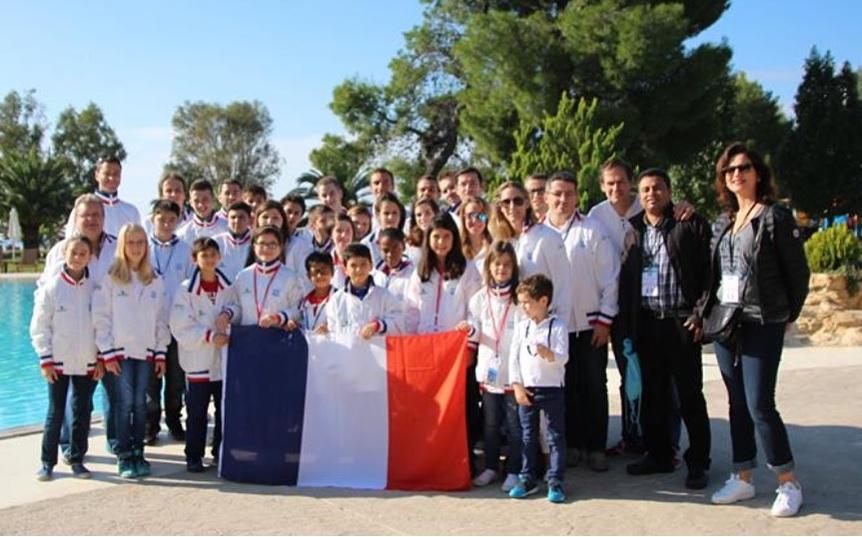 Elise Bellaiche dans l'équipe de France d'échecs - Photo © Chess & Strategy