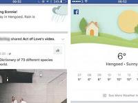 Facebook Uji Coba Fitur Ramalan Cuaca