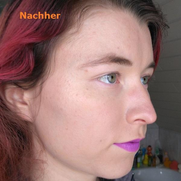 Haut nachher Schminkergebnis mit Lancome