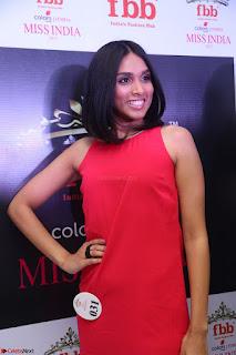 Spatika Surapaneni in Red Tight Dress at FBB Miss India 2017 finalists at Telangana auditions Feb 2017 (20).JPG