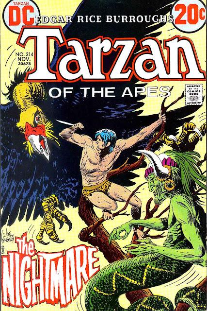 Tarzan v1 #214 dc comic book cover art by Joe Kubert