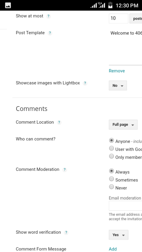 How to display comments box in blogger - Home of achievement