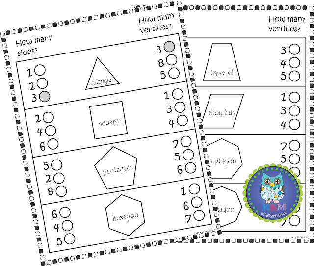 KM Classroom: 2d Shapes Activities, Worksheets, Posters, Games and ...