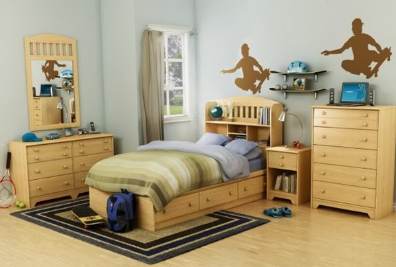 dormitorio temática skate