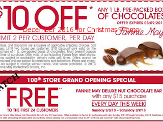 Fannie May coupons december