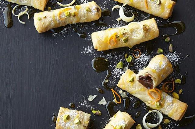 This clever twist on baklava sneaks Turkish delight into little bundles Turkish filo delight cigars recipe