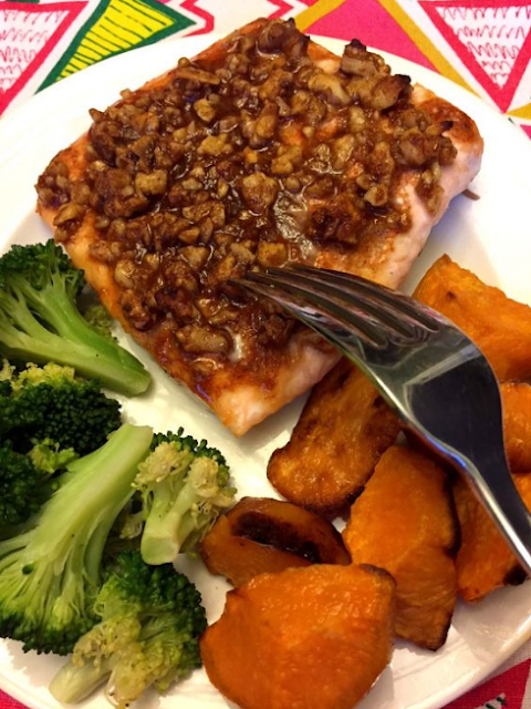 Walnut Crusted Baked Salmon