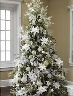 árbol de navidad color blanco