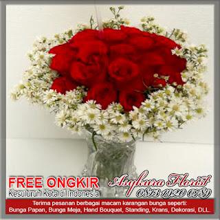 Kami menjual bunga rangkaian di untuk Keluar Daerah dengan gratis biaya ongkos kirim. Toko Bunga Asykura Florist Menjual berbagai macam Bunga Segar, Bunga Papan, Bunga Ucapan, Bunga Wedding, Bunga Ulang tahun, Bunga Duka Cita, Bunga Bela Sungkawa, Bunga Peresmian, Bunga Valentine, Bunga Buket, Bunga Meja, Bunga Pengantin dan Dekorasi.   WILAYAH KERJA KAMI  ASYKURA FLORIST DI PROVINSI DKI JAKARTA Area kerja Toko Bunga Asykura Florist di Wilayah Provinsi DKI Jakarta: Kota Jakarta Pusat, Kota Jakarta Barat, Kota Jakarta Selatan, Kota Jakarta Timur, Kota Jakarta Utara, Kabupaten Administrasi Kepulauan Seribu.  ASYKURA FLORIST DI PROVINSI JAWA BARAT Area kerja Toko Bunga Asykura Florist di Wilayah Provinsi Jawa Barat: Kota Bandung, Kota Banjar, Kota Bekasi, Kota Bogor, Kota Cimahi, Kota Cirebon, Kota Depok, Kota Sukabumi, Kota Tasikmalaya, Kabupaten Bandung, Kabupaten Bandung Barat, Kabupaten Bekasi, Kabupaten Bogor, Kabupaten Ciamis, Kabupaten Cianjur, Kabupaten Cirebon, Kabupaten Garut, Kabupaten Indramayu, Kabupaten Karawang, Kabupaten Kuningan, Kabupaten Majalengka, Kabupaten Purwakarta, Kabupaten Subang, Kabupaten Sukabumi, Kabupaten Sumedang, Kabupaten Tasikmalaya. ASYKURA FLORIST DI PROVINSI JAWA TENGAH Area kerja Toko Bunga Asykura Florist di Wilayah Provinsi Jawa Tengah: Kota Magelang, Kota Pekalongan, Kota Salatiga, Kota Semarang, Kota Surakarta, Kota Tegal, Kabupaten Banjarnegara, Kabupaten Banyumas, Kabupaten Batang, Kabupaten Blora, Kabupaten Boyolali, Kabupaten Brebes, Kabupaten Cilacap, Kabupaten Demak, Kabupaten Grobogan, Kabupaten Jepara, Kabupaten Karanganyar, Kabupaten Kebumen, Kabupaten Kendal, Kabupaten Klaten, Kabupaten Kudus, Kabupaten Magelang, Kabupaten Pati, Kabupaten Pekalongan, Kabupaten Pemalang, Kabupaten Purbalingga, Kabupaten Purworejo, Kabupaten Rembang, Kabupaten Semarang, Kabupaten Sragen, Kabupaten Sukoharjo, Kabupaten Tegal, Kabupaten Temanggung, Kabupaten Wonogiri, Kabupaten Wonosobo