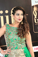 Manjusha in Beautiful Sleeveless Green Anarkali dress at IIFA Utsavam Awards 017.JPG