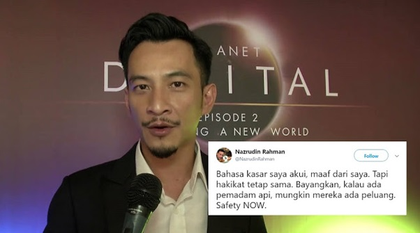 """Bahasa Kasar Saya Akui, Maaf Dari Saya, Tapi Hakikat Tetap Sama,"" Naz Rahman Twitt Mohon Maaf Bahasanya Kasar"
