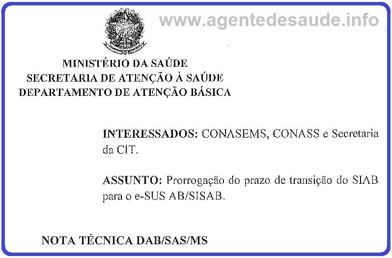 Nota Técnica do Ministério da Saúde prorroga o prazo da implantação do E-SUS 1