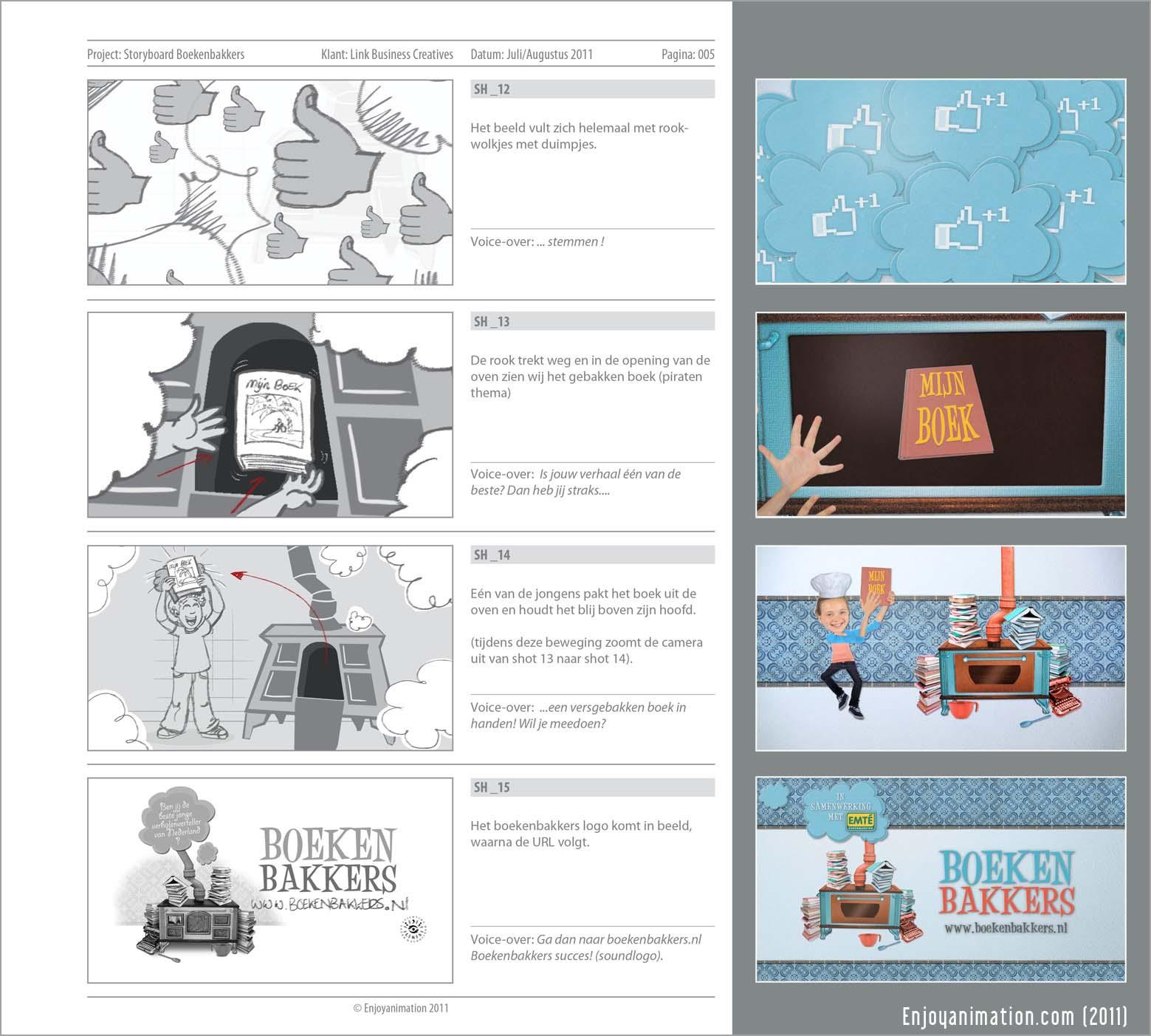 Storyboard For Website Design: Enjoyanimation's Blog: Storyboard Boekenbakkers Promo