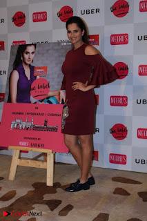 Indian Tennis Star Sania Mirza Pos in Red Short Dress at  0025.jpg