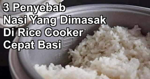 3 Penyebab Nasi Yang Dimasak Di Rice Cooker Cepat Basi