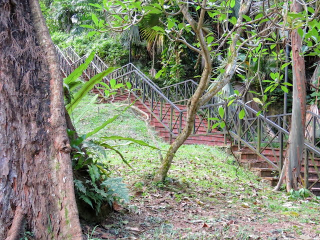 Staircase in Fort Canning Park in Singapore