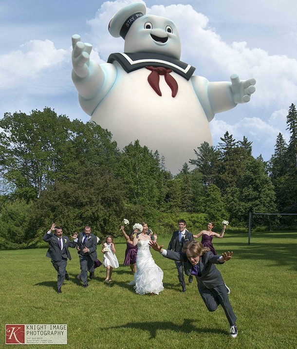 Stay Puft Marshmallow Man Attack