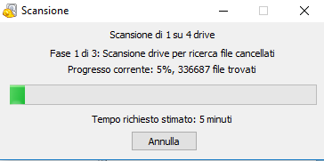Recuperare file cancellati