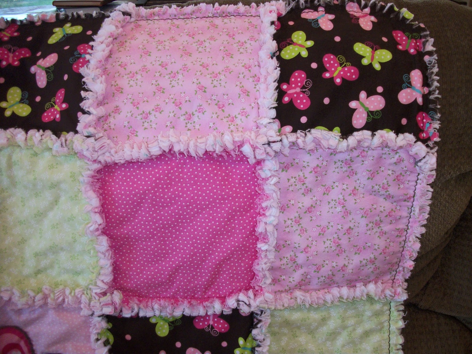 Deerecountry Quilts Butterfly Rag Quilt