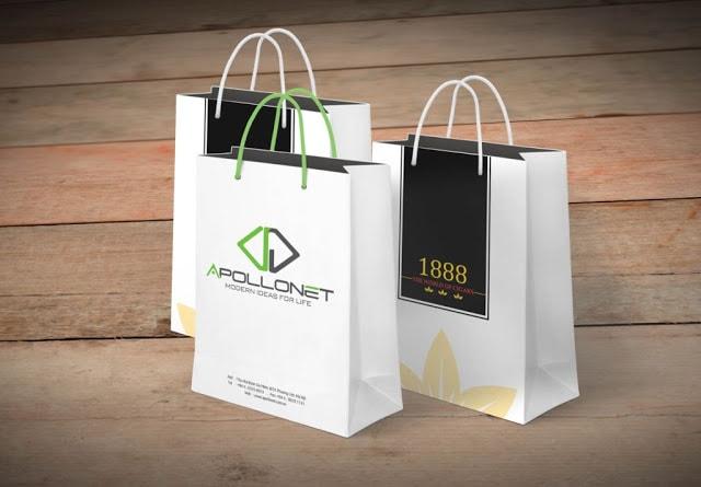 In túi giấy cho shop thời trang số lượng ít lấy ngay giá rẻ tphcm