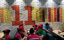 Роспись стен в новом KFC