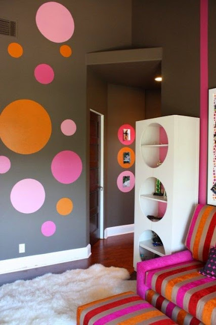 Dormitorios para Niños con Círculos en las Paredes - Bedrooms Points Circles : Casas Decoracion