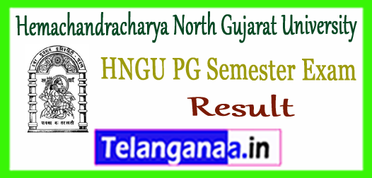 HNGU Hemachandracharya North Gujarat University PG 1st 3rd Semester Result 2017