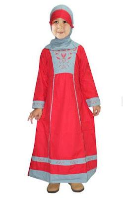 Baju anak perempuan muslim terusan lucu