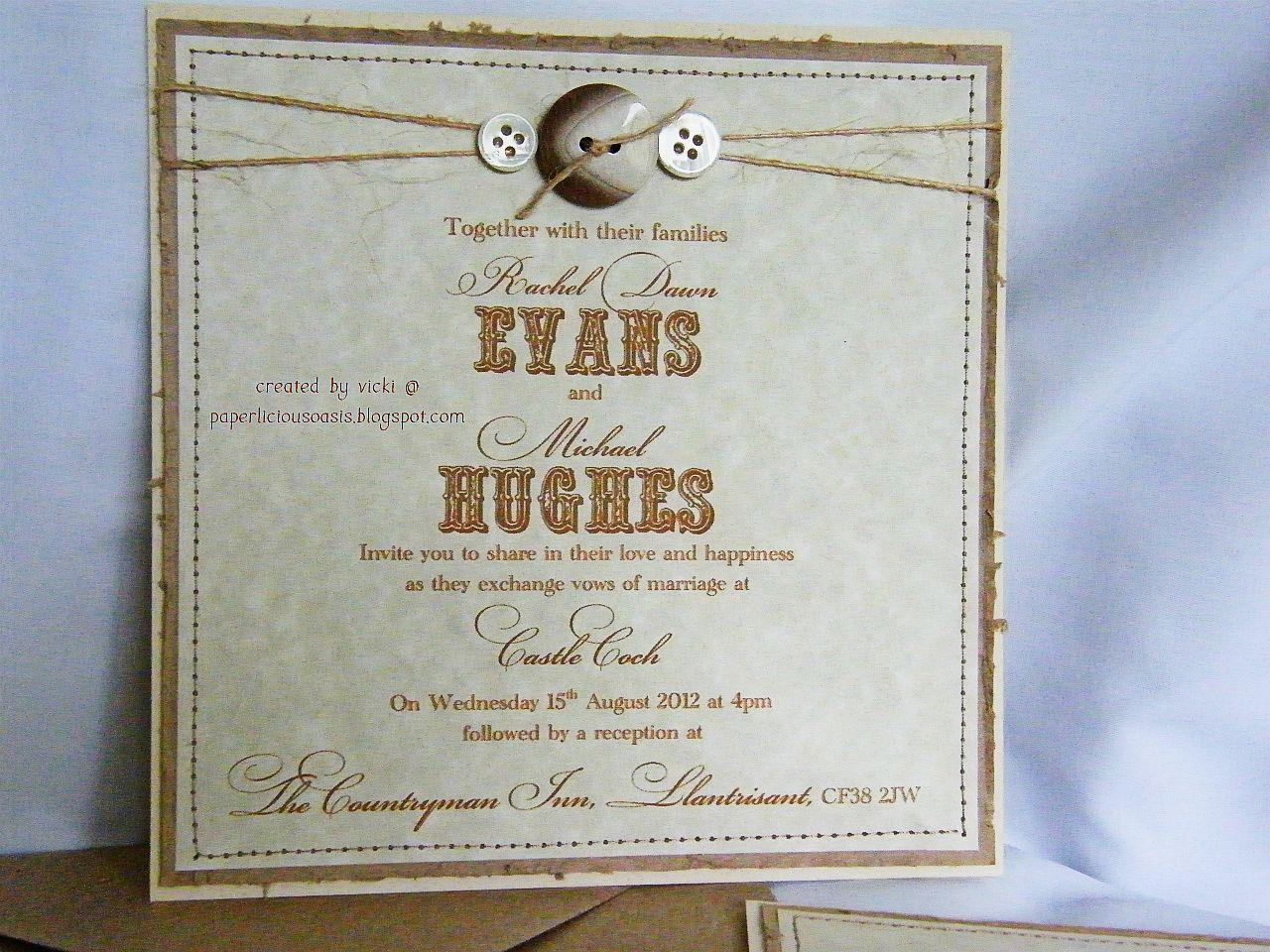 Wedding Invites Rustic: Paperlicious Oasis: Rustic Wedding Invitations